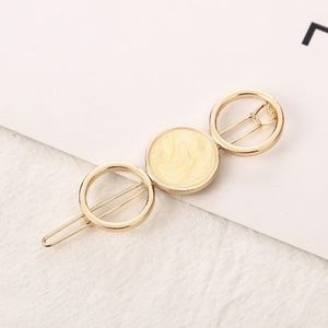 5 for $25 Yellow Acrylic Stone Hair Clip Pin